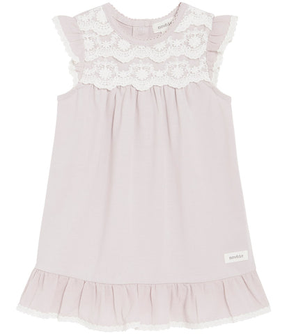 Baby dress with lace and ruffles