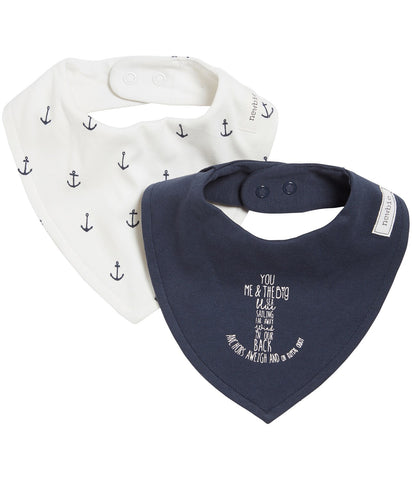 2 pack bibs with anchor print
