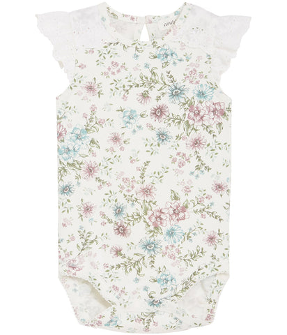 Body with floral print and frills