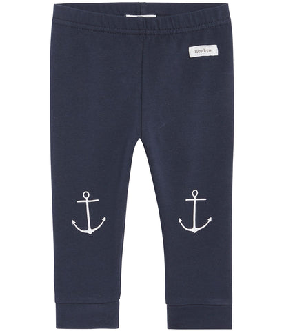 Baby leggings with anchor print
