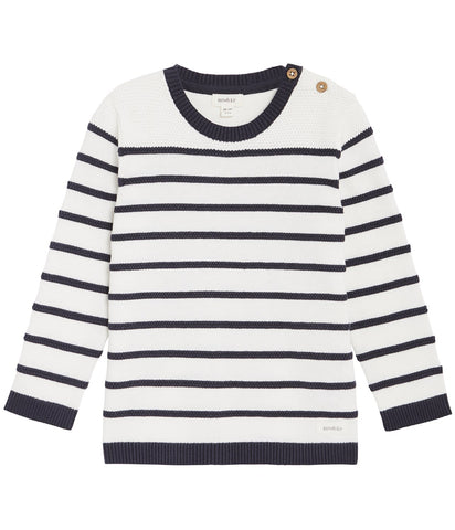 Stripe jumper with buttons