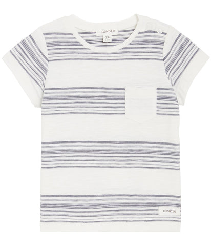 Baby t-shirt in grey stripes