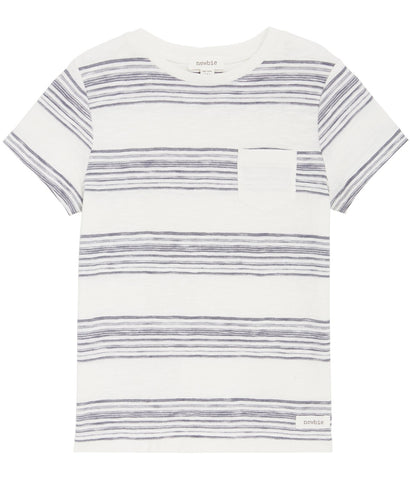 Stripe t-shirt in grey