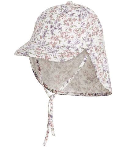 Baby floral print hat with visor