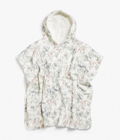 Limited Edition Floral terry towel poncho