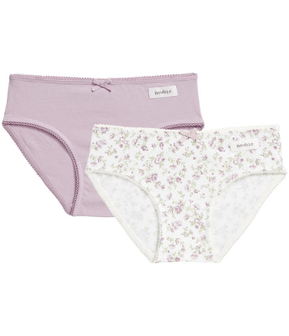 Underwear with printed flowers