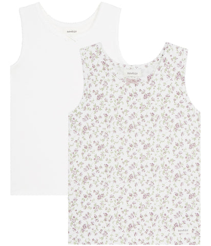 2 pack floral vests