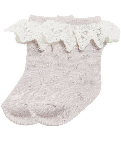 Baby socks with lace frills