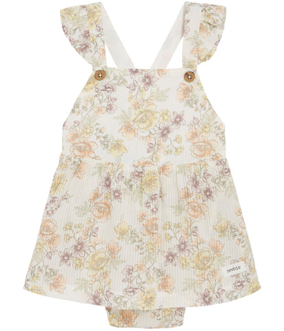 Baby floral pattern dress with ruffles