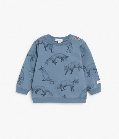Baby top with foxes print