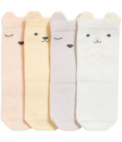 4 pack socks with bear faces