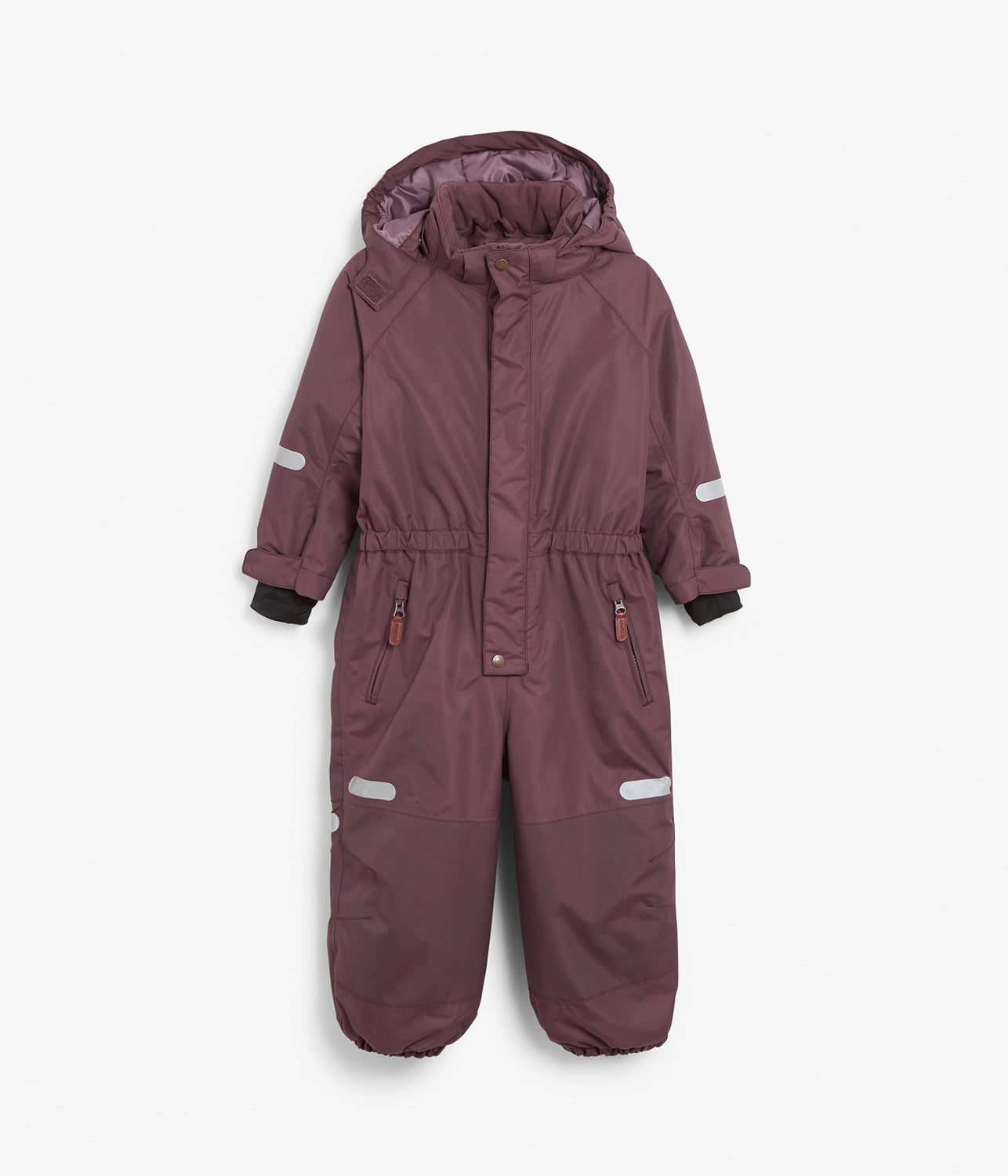 Waterproof technical purple winter overalls