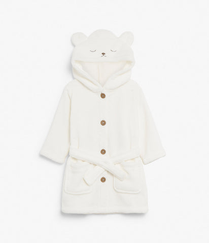 Baby fleece robe with hood & ears