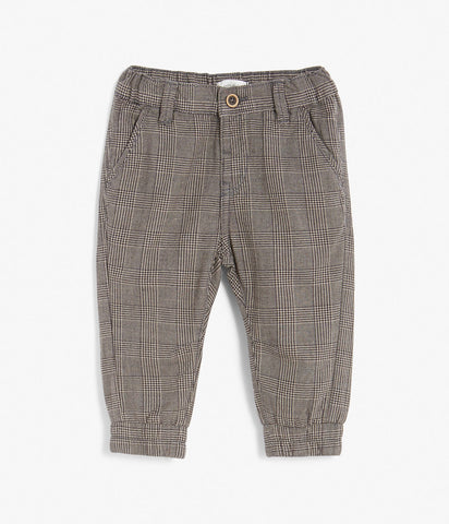 Baby trousers in check pattern