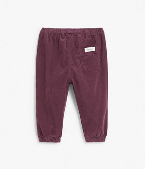 Baby corduroy trousers with pockets