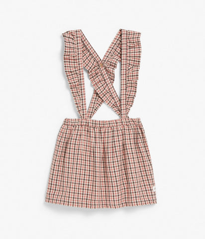 Pinafore dress in check print
