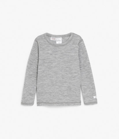 Grey wool thermal layer top