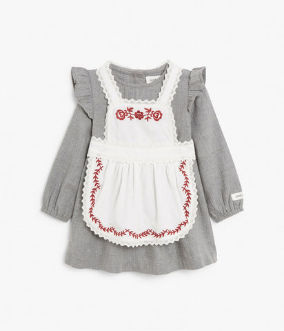 Baby Christmas pinafore dress set