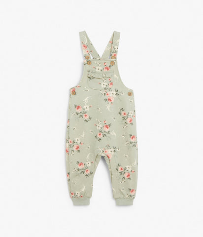 Baby floral dungarees