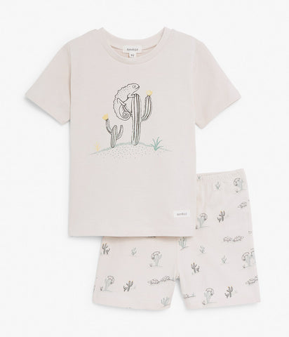 Pyjama set with cactus print