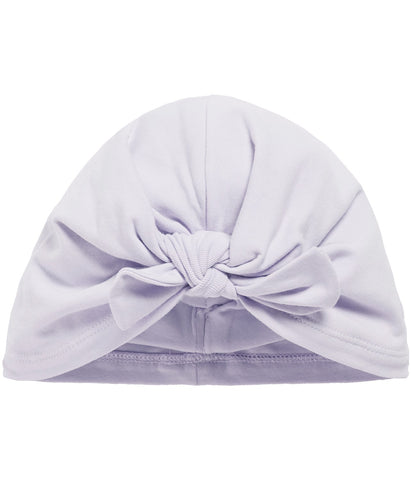 Purple bow front hat