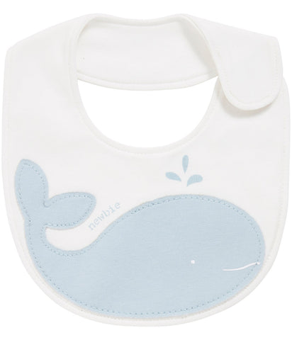 Bib with dolphin print