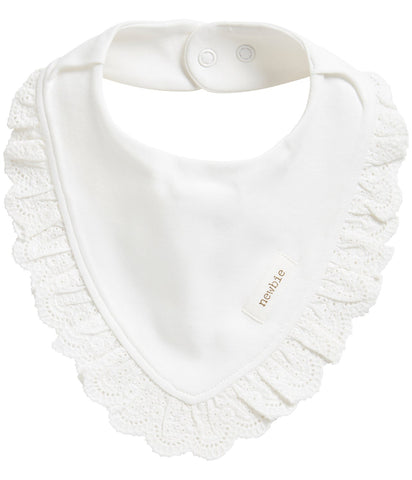 Bib with frilly trims