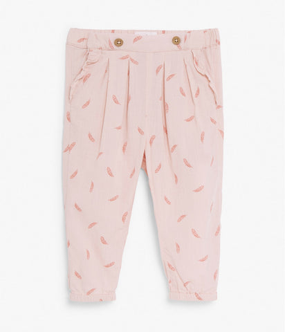 Baby feather print trousers