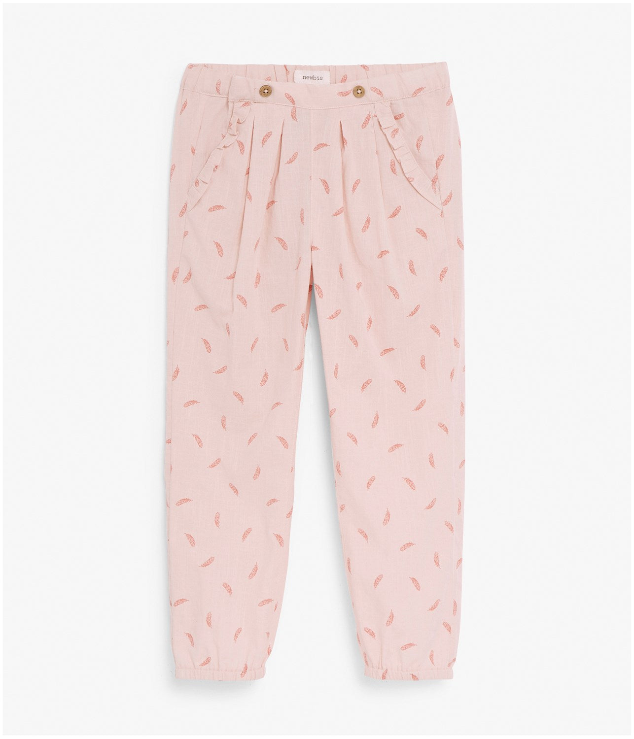 Feather print trousers