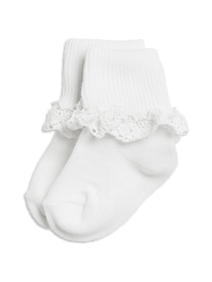 Socks with frills
