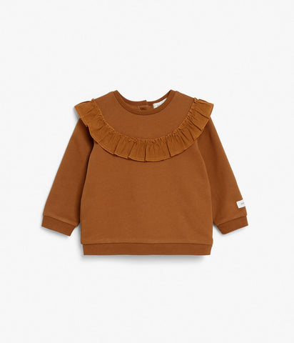 Baby top with ruffles