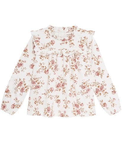 Floral pattern long sleeve top