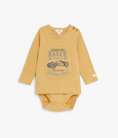 Long sleeve body with race car print