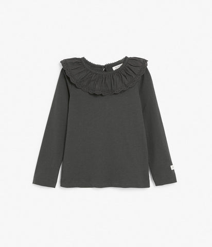 Limited Edition black ruffle top