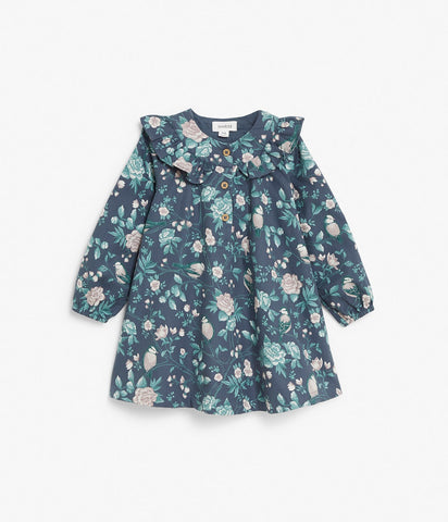 Baby floral print dress with ruffles