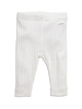 newbie kids Leggings organic cotton white