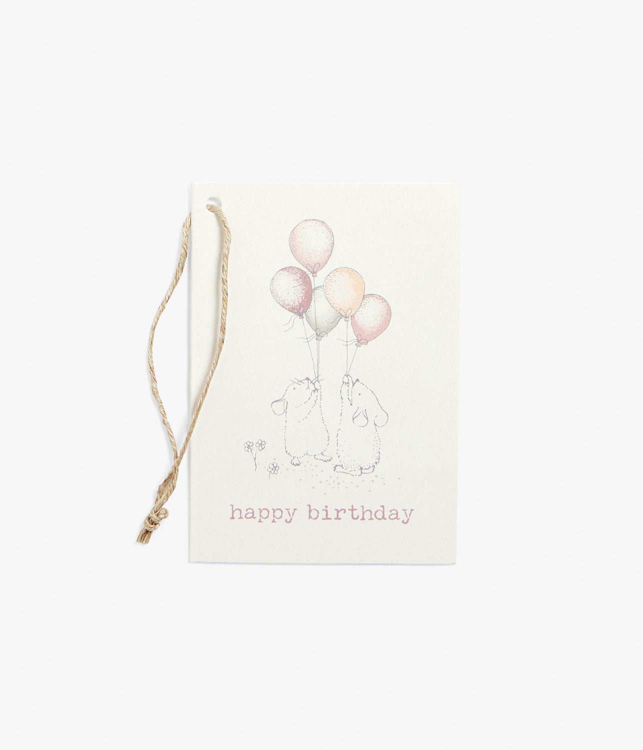 Gift tag with balloon print