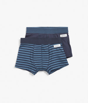 2 pack blue stripe boxer shorts