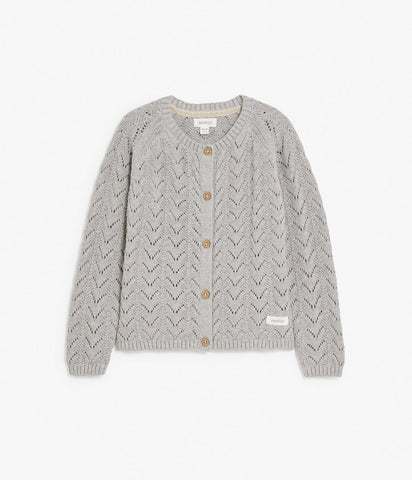 Grey pattern cardigan