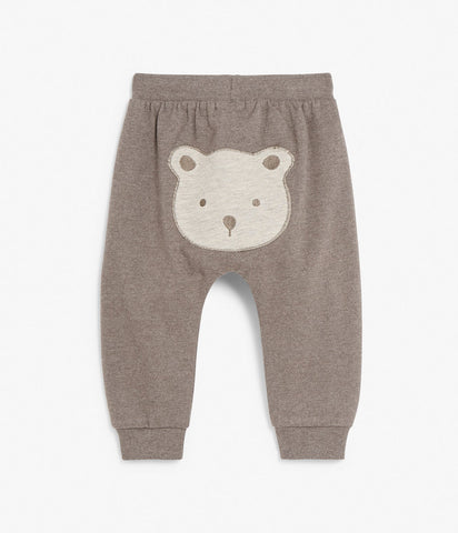 Baby sweatpants with bear face