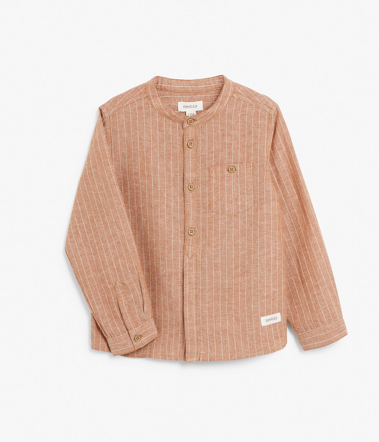 Kids button up linen blend shirt