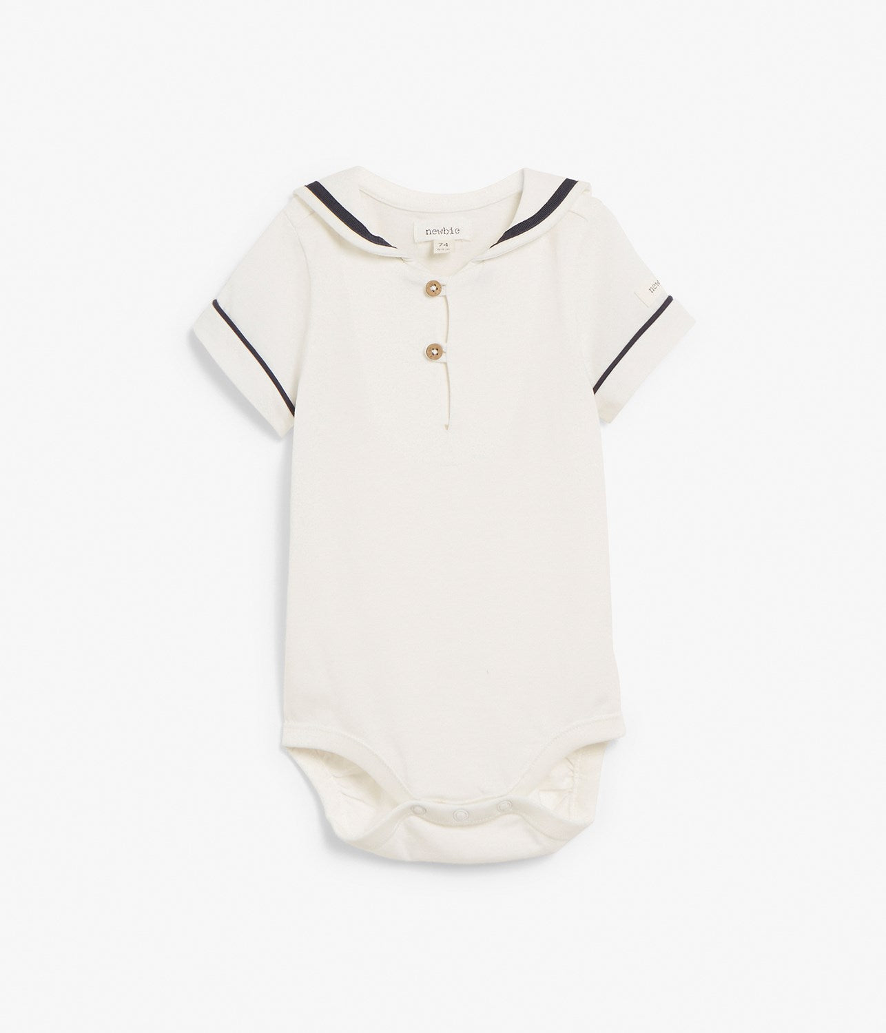 Baby body with sailor collar