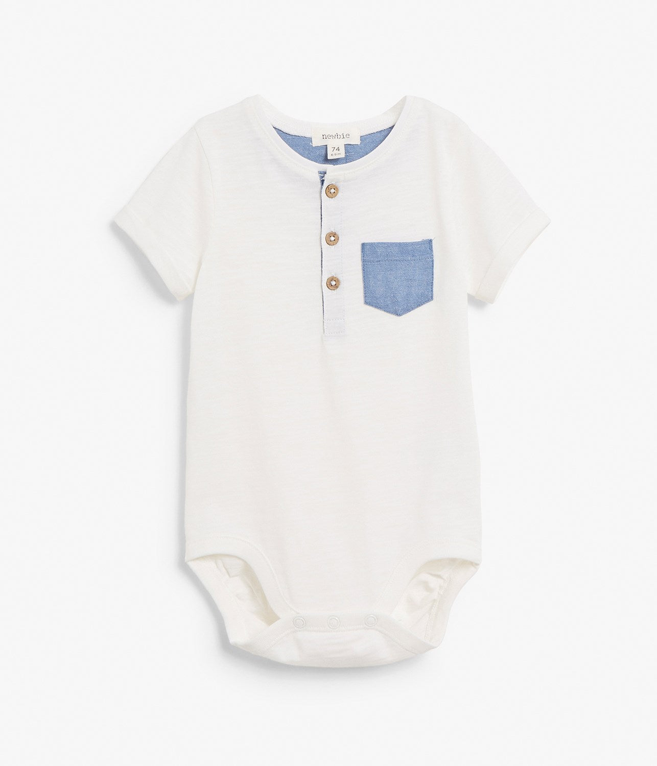 Baby body with feature pocket