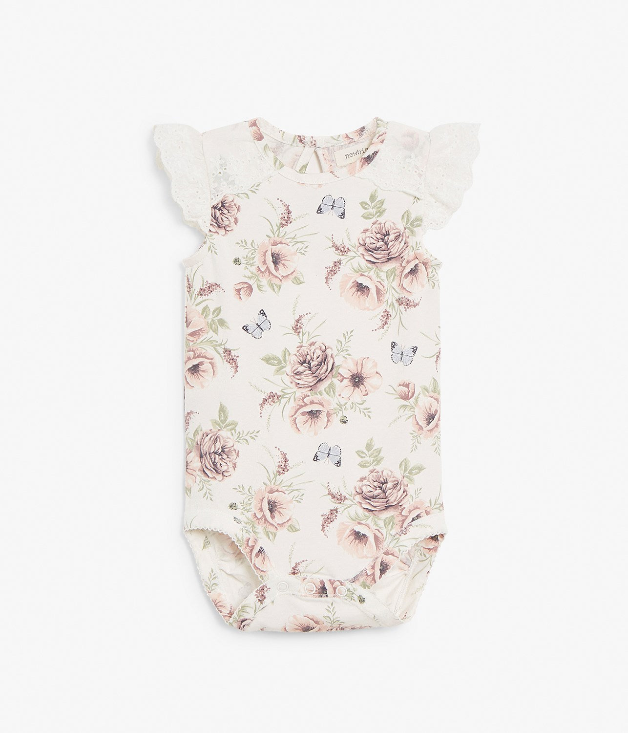 Baby floral print body with lace