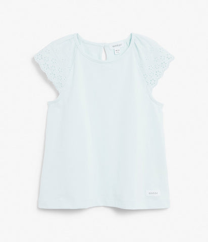 Kids broderie anglaise t-shirt