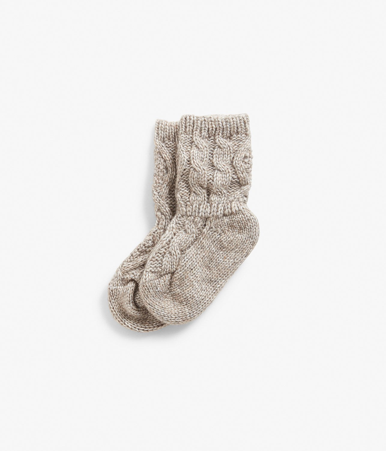 Baby brown knitted pattern socks