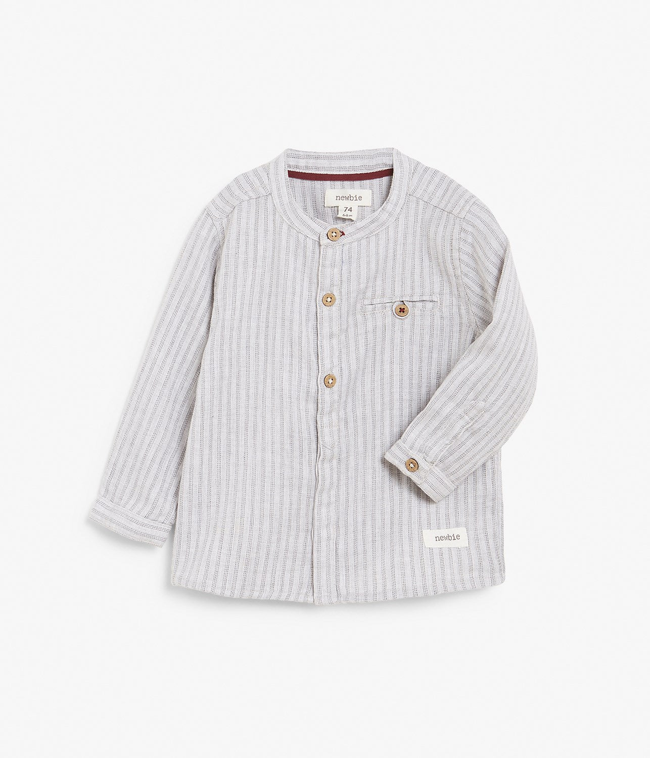 Baby grey stripe button up shirt