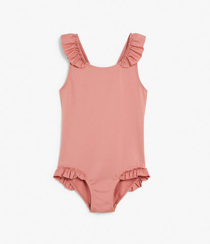 Kids one-piece swimsuit with frills