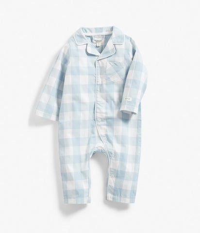 Baby Limited flannel plaid sleepsuit