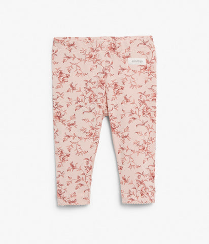 Baby leggings in floral print